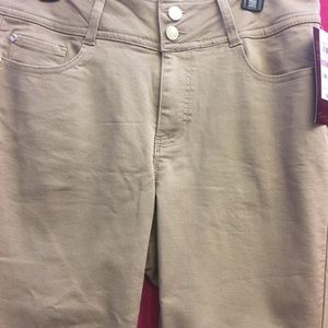 Khaki stretch pants
